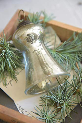 Jeanne D´Arc Living Bola Campana 8,5cm Bola para Árbol de Navidad Navidad Plata Antigua