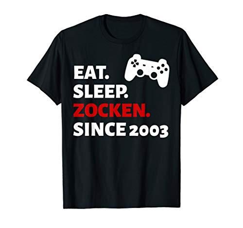 17. Geburtstag Junge Mädchen Geschenk 17 Jahre 2003 Party T-Shirt