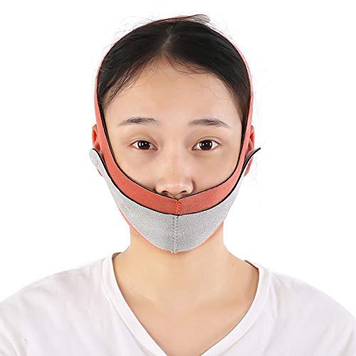 Masque lifting visage mince ceinture soins de santé minceur ceinture faciale Shaper le visage Bandage visage bandage (Color : Pink+Gray)