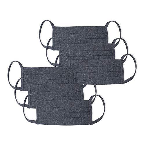 Kit 6 Peças Máscaras de Proteção em Algodão, Mash, Cinza Escuro, Único