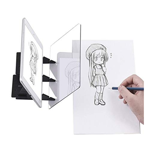 ErYao Portable Tracing Board Stencil Board, Drawing Sketching Optical Painting Drawing Board, Lens Sketch Wizard,Sketching Tool, Sketch Drawing Board, for Kids and Beginners (Clear, 13.5 cm x 20 cm)
