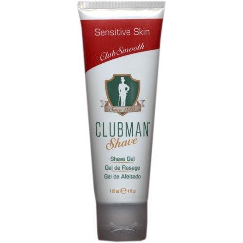 Clubman Shave Gel for Sensitive Skin, 4 oz