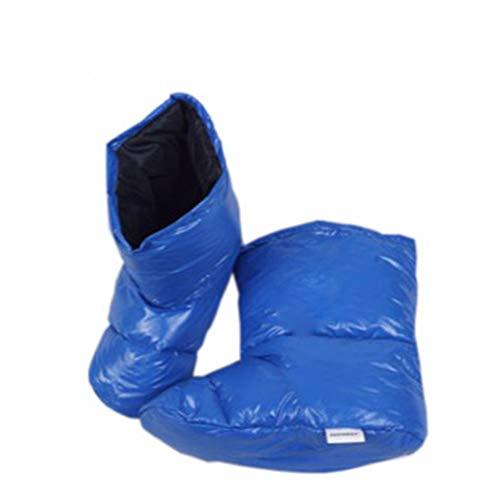 HEZHENG Inverno Giù Stivaletti Calze Pantofole Morbido e Caldo, Accogliente per Campeggio Esterno di Sonno Bagcamp Morbido e Caldo Giù Pantofole Calzini,B,M