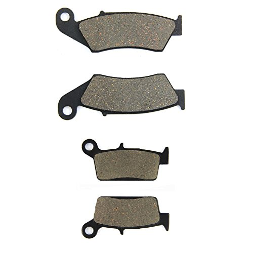 SOMMET Motorrad Bremsbeläge Vorne + Hinten für Honda CR 125 R/ CR 250 R/CR 500 R(1995-2001)