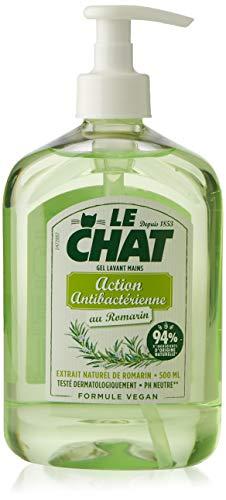 Le Chat - Savon Mains - Gel Lavant - Romarin - Action Antibactérienne - Formule Vegan - Flacon 500ml