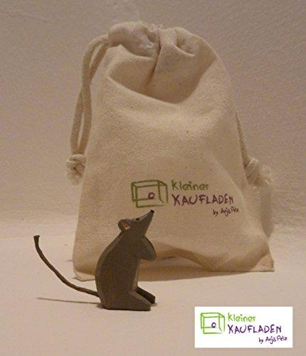 Lotte Sievers-Hahn Maus/Mäuschen Krippenfigur mit Baumwollbeutel