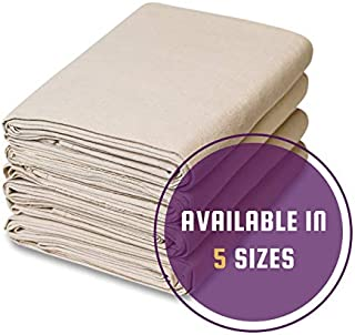 4 Piece Set Canvas Drop Cloth (9 feet x 12 feet)