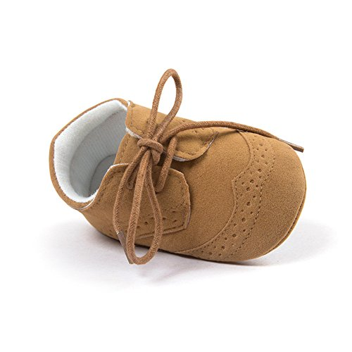 ESTAMICO Baby Boys Shoes Prewalker PU Sneakers Brown 6-12 Months
