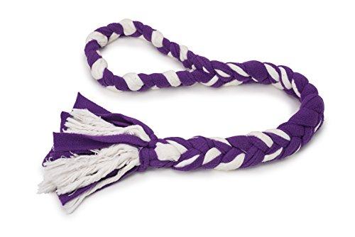 PetSafe Fleece Hundespielzeug, Zieh- und Zerrspielzeug mit geflochtenem Vlies Seil