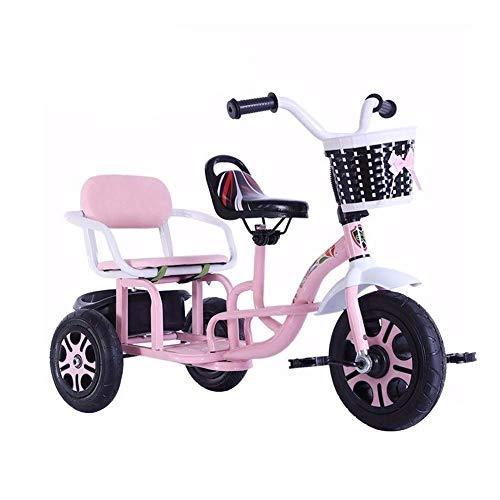 CAIMEI Training Fahrrad Trike Kinder 'Dreiräder Tandem Fahrrad Multifunktions Kinder' S Dreirad Kann Menschen Doppelsitz Ausgehen Dreirad 2 Farboptionen Baby Geburtstagsgeschenk, Blau Bringen,Rosa