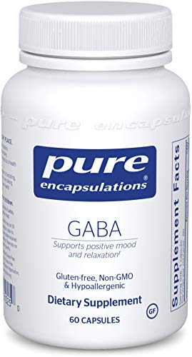 Pure Encapsulations GABA | Supplement to Support Positive Mood, Relaxation, and Moderation of Occasional Stress* | 60 Capsules