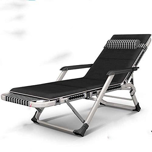 WFFF Sillón reclinable Plegable Siesta Silla de Playa Respaldo Silla de jardín para el hogar Silla reclinable Perezosa Cama Plegable de Oficina portátil