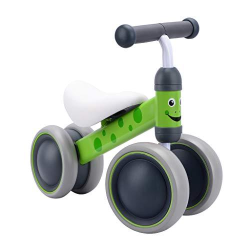 BOLDCUBE Kinder Laufrad Lauflernrad Balance Fahrrad ohne Pedale Dreirad Spielzeug für 1 Jahr, Erstes Baby Laufrad für Jungen Mädchen, Empfohlenes Alter: 10-24 Monate (Bertie Frosch)