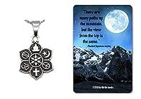 COEXIST 平和 陰陽 宗教 スピリチュアルネックレス ギフトセット 記念カード付き 18インチチェーン
