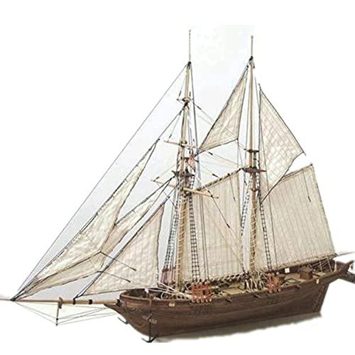 MOHAN88 Kits de Bricolaje de Modelo de Barco de Vela, Modelo de ensamblaje de velero de Madera de Bricolaje Halcon Veleros Kit de Modelo de velero de Bricolaje Juguetes Juguetes para niños Regalo