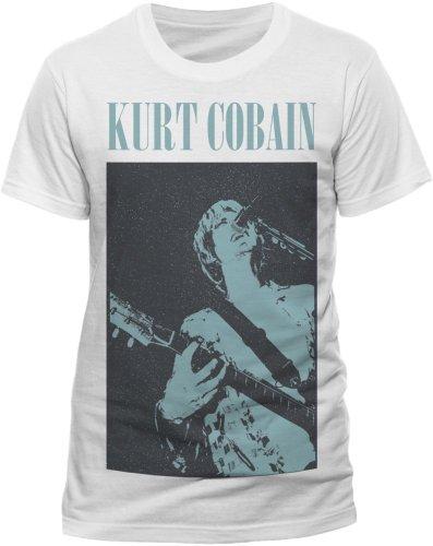 Live Nation - T-shirt Homme Kurt Cobain - Standing Blue Photo - Blanc (White) - Large