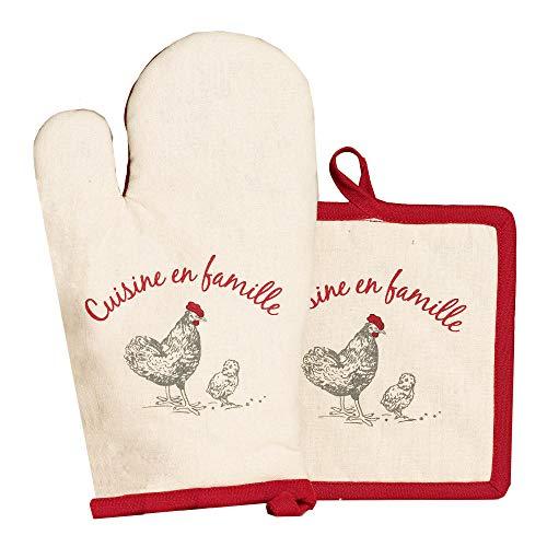 Winkler - Lot gant/manique > – Protection contre la chaleur de cuisson - Dessous de plat avec crochet d'attache