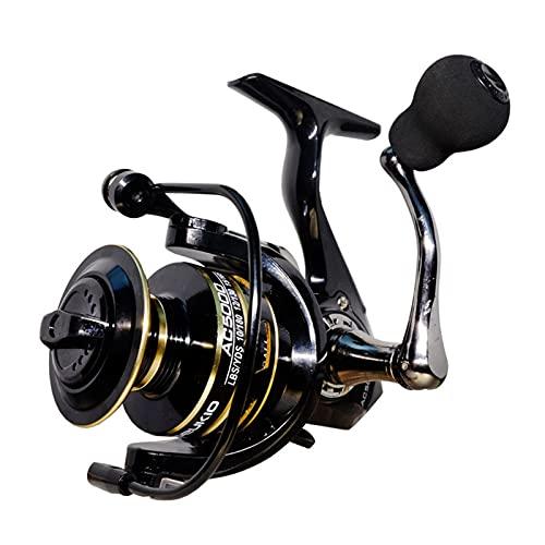HXSAF 2021 Nuevos carretes de Giro 8kg MAX Drag Carta de Pesca 5.2: 1 Carrete de Pesca de Acero Inoxidable de Metal Carrete de Agua Salada para Pescar (Color : AC, Spool Capacity : 6000 Series)