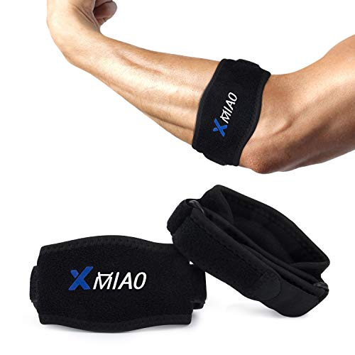 Elbow Brace,XMIAO Adjustable Straps Tennis Elbow Braces with Compression Pad,Effective Pain Relief for Tennis&Golfers, Tendonitis, Lateral&Medial...
