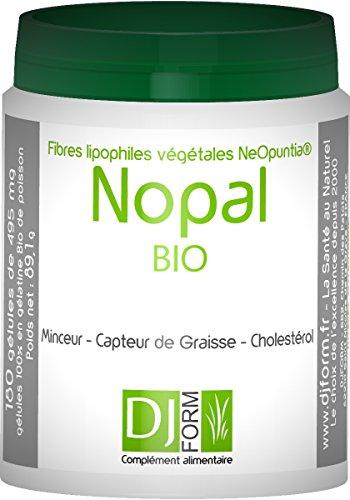 Nopal Bio - 300 gélules - Figuier de Barbarie - Capteur de Graisse Minceur - Contrôle du poids