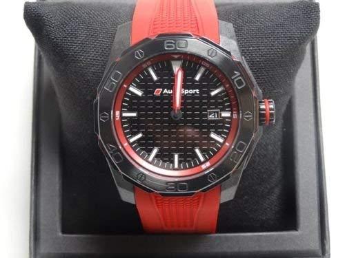 Audi 3101600801 Reloj Deportivo con cronógrafo, Rojo