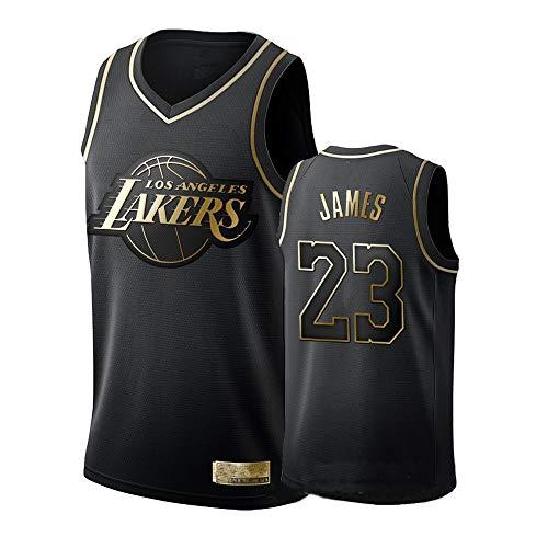 ZXZXING Herren Jersey Lakers 23# Lebron James Retro Basketball Shirt Sommer Basketball Uniform Stickerei Tops Basketball Anzug Shorts
