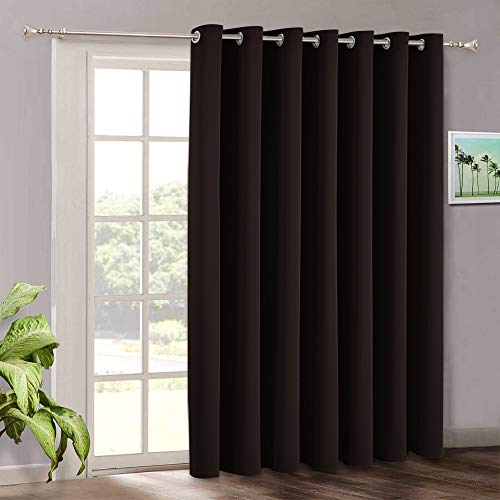 RYB HOME Vertical Blinds for Patio Door Sunlight Blackout Extra Large...