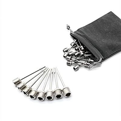 Qihaihp 30 Pcs Stainless Steel Air Pump Needles Ball Pump Inflation Needles Pin for Blowing Up Football, Basketball, Soccer, Volleyball, Netball, Handball, Waterpolo Balls and All Other Sports