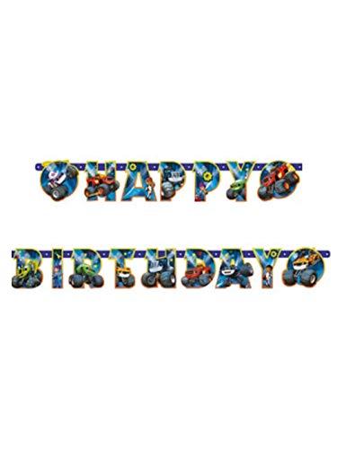 Amscan 7AM9901359 - Guirnalda de cumpleaños (180 x 15 cm), multicolor