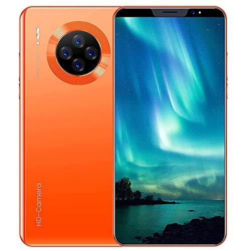 WH-ENTER Smart Mobile 5.8 Pulgadas Android Smartphone Teléfono RAM 4GB + 64GB 3800mah Capacidad Batería (Color : Orange)