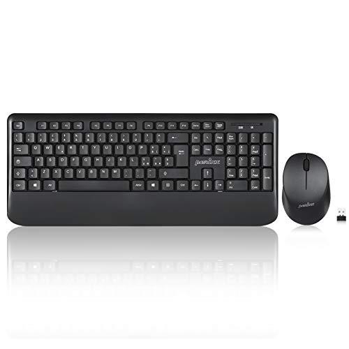 Perixx PERIDUO-714, Set Tastiera grandezza standard 2,4 GHz senza fili e mouse, Layout italiano, nero