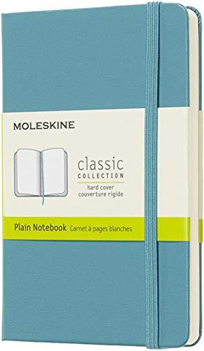 Moleskine Notebook Classic- Copertina Rigida - Taccuino a Pagine Bianche, Pocket, Blu (Reef)