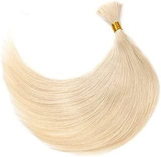 Human Braiding Hair Bulk Remy Straight European Hair Bulk Blond Bulk