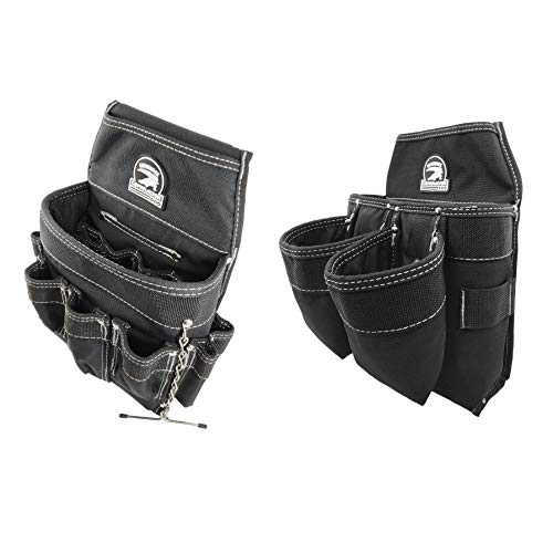Professional Electrian's Tool and Fastener Pouch Set (tool belt ready)