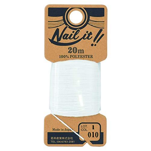 若井産業 ネイルイット用ストリング糸 約20m ホワイト 1巻 NL01020