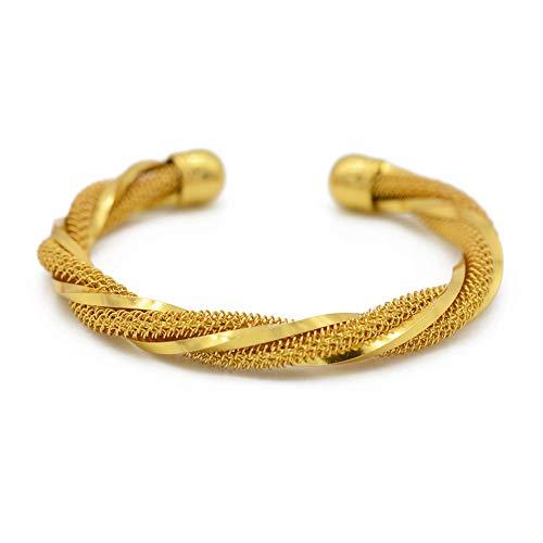 Armreif Für Frauen Gold Farbe Afrikanischen Twisted Bangles Und Armbänder Arabischen Äthiopischen Schmuck Mode Geschenke