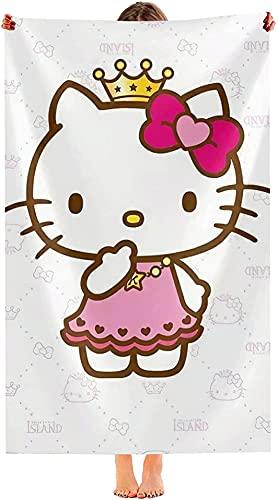 NFBZ Hello Kitty Toalla de baño de fibra superfina, playa, natación, deporte, secado rápido, microfibra, gruesa, suave, absorbente, para exteriores (F06,80 x 160 cm)