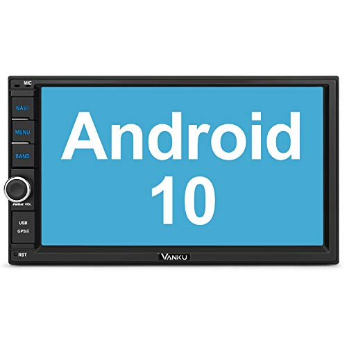 "Vanku Android 10 Autoradio 2 DIN GPS Navegación, Radio de Coche Soporte Bluetooth, Control Volante, WiFi, USB, SD, Mirror-Link, 4G, con 7"" Pantalla táctil"