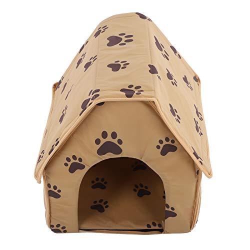 Pet House, Stoff Material Faltbar Small Footprint Pet Bed Zelt, Hundebett für Puppy Cat House Pet House(Brown)