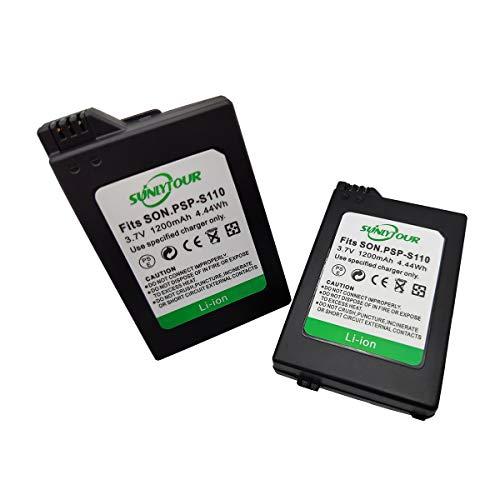 PSP-S110 Battery, 2 Pcs PSP-S110 PSP S110 Battery for Playstation PSP2000 2001 2002 2003 2004 2005 2006 2008 3000 3001 3002 3003 3004 3005 3006 3008