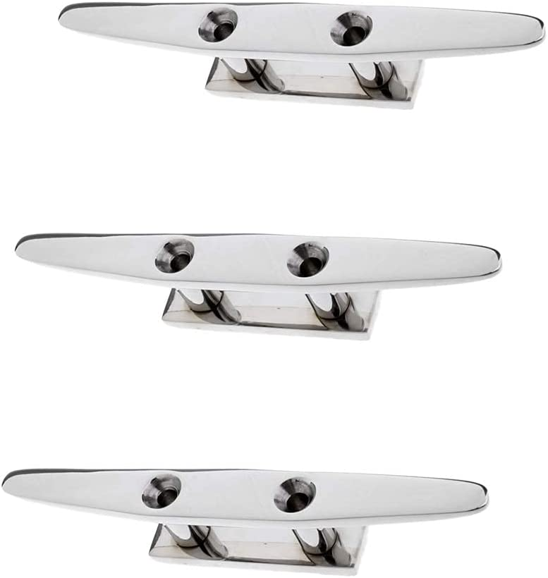 HALOHU 3pcs Stainless Time sale Steel Low 8inch Flat Cleat for Watercraft online shopping