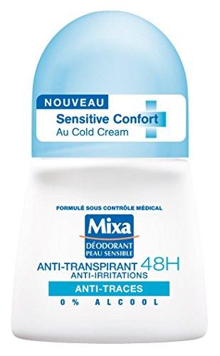 """Mixa """"Sensitive Confort"""" Deoroller für Frauen, mit 48-Stunden-Wirkung, Anti-Flecken, 50ml"""