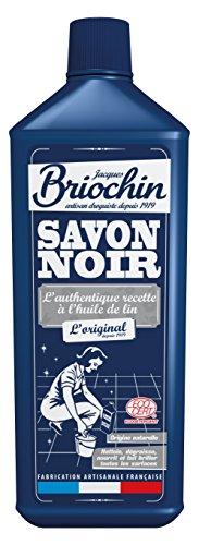 Briochin Savon noir liquide à l'huile de lin, tous types de sols et autres - Le flacon de 1L