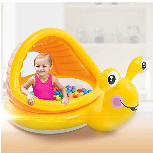 BHDesign Piscina Hinchable Bebe con Parasol, Caracolpiscina Hinchable, Piscina Infantil para Niños Y Bebés para Niños Pequeños