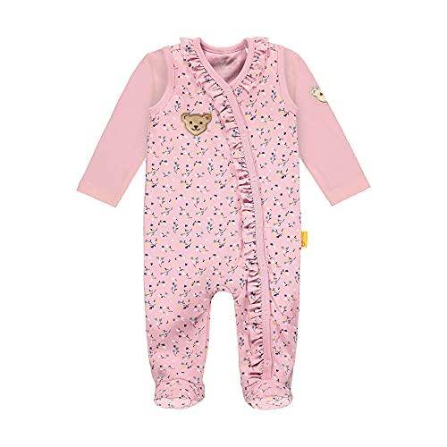 Steiff Baby-Mädchen Set Strampler + T-Shirt Langarm Unterwäsche, PINK Nectar, 56