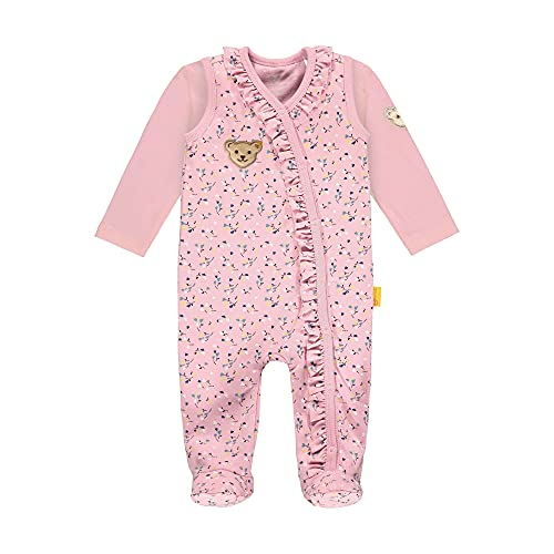 Steiff Set Strampler + T-Shirt Langarm Ropa Interior, Rosa Nectar, 56 cm para Bebés