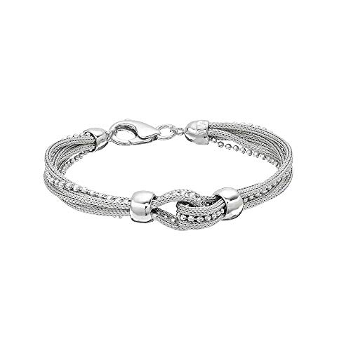 Sterling Silver Mesh Multi Strand Bracelet (7.5 inches)
