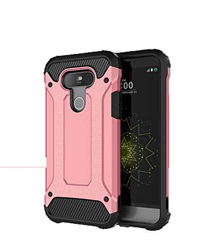 SsHhUu Funda LG G5, 2 in1 TPU + PC Doble Capa Protección A Prueba de Golpes Antideslizante Pesada Híbrida Resistente Protectora y Robusta Funda para LG G5 H580 US992 (5.3') Rose Oro