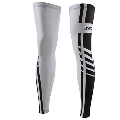 GWELL Radfahren Beinlinge Sonnenschutz Knie laufen thermische Kompression