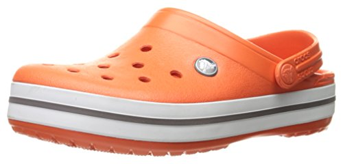 Crocs Crocs Unisex Men's and Women's Crocband Clog, Orange Tangerine White, 40/45 EU